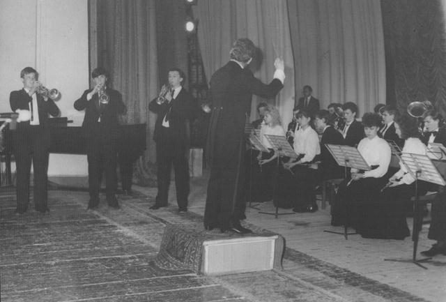 Духовий оркестр під керівництвом О.М.Мілютіна