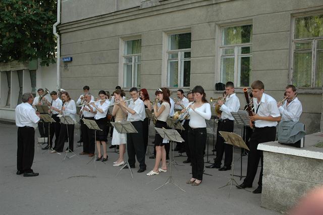 Духовий оркестр під керівництвом М.І.Лисенка