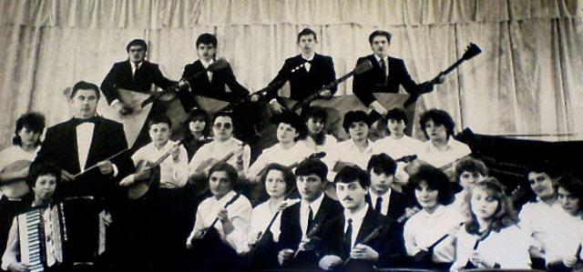 Оркестр народних інструментів. Дириент Герасименко В. І. 1990р.